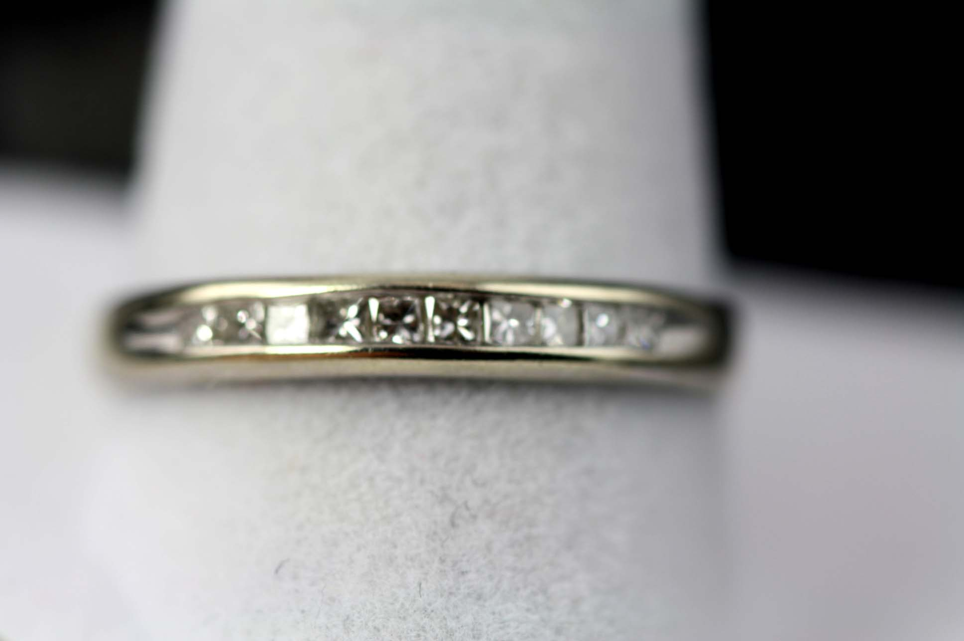 Anniversary Ring With Princess Cut Diamonds