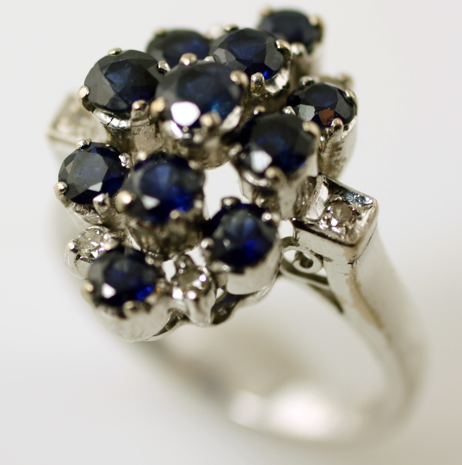 Diamond And Sapphire Ring, SKU 148-03601