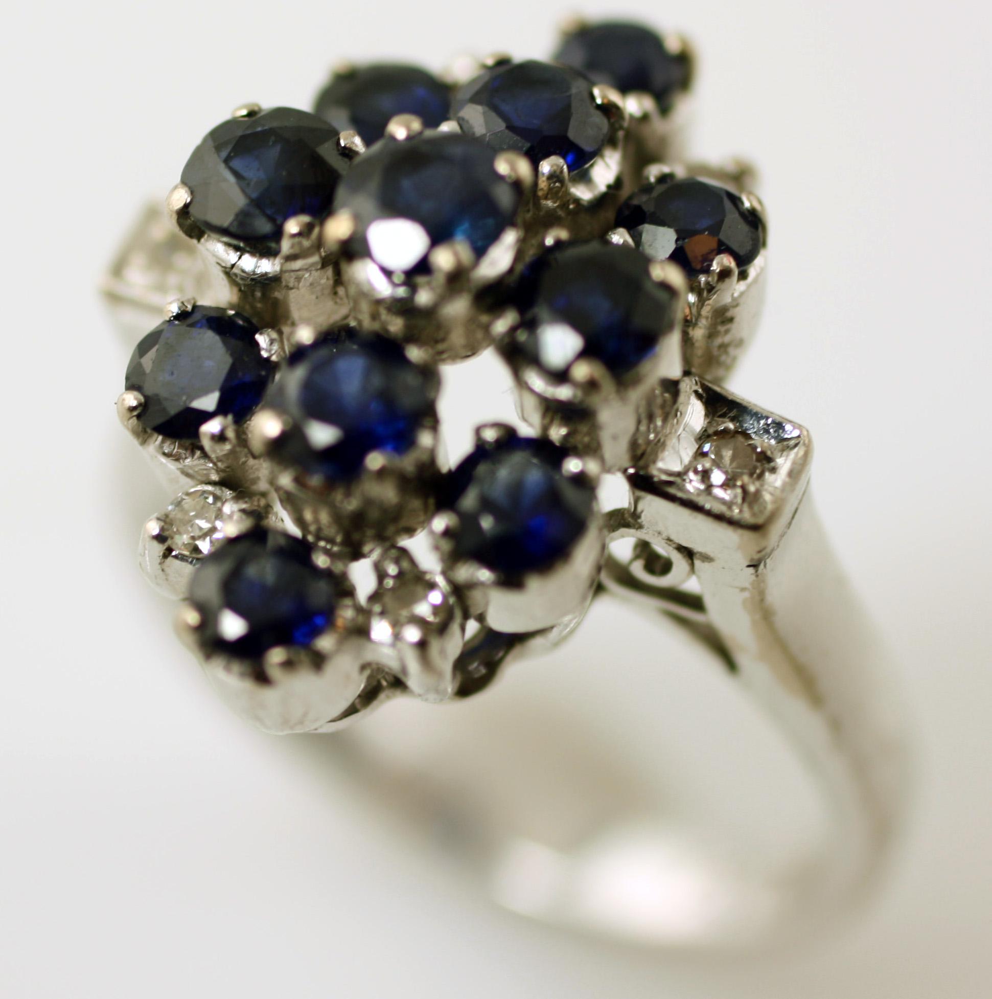 Diamond and Sapphire Ring, SKU 148-03601