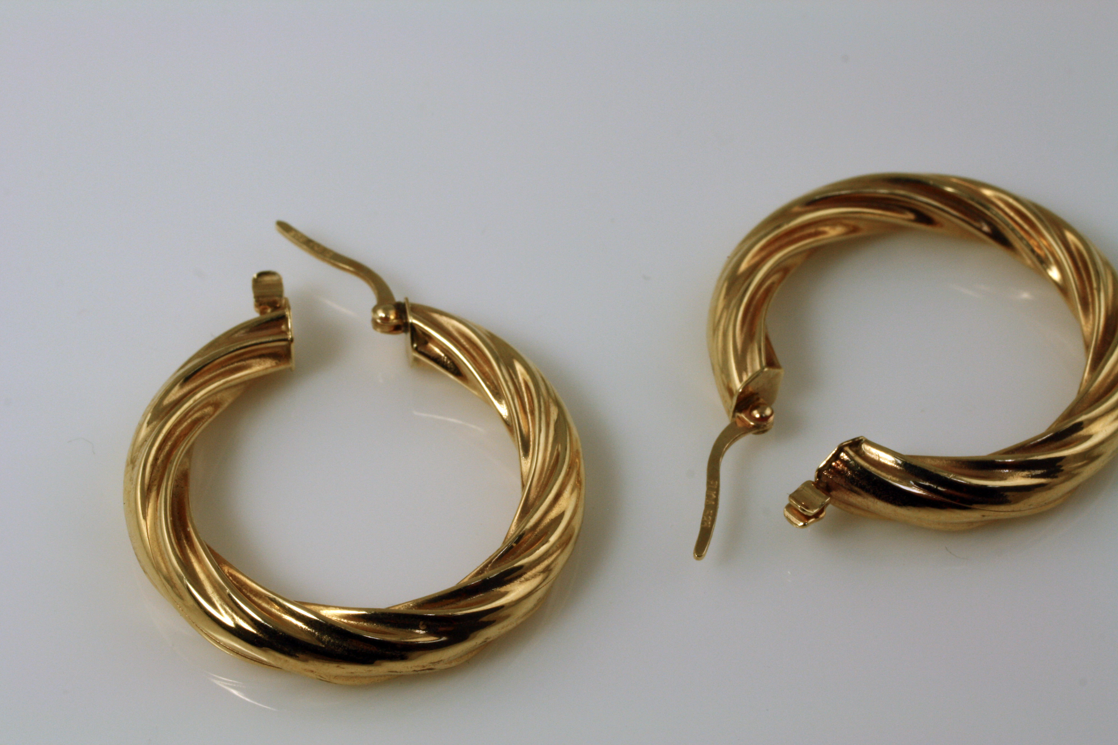 Gold Hoops Twist Design